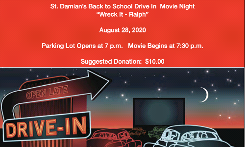 Back to School Drive In Movie Night!